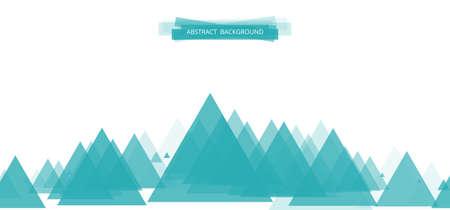 website header: Geometric colorful bright banner made of triangles. Blue header design for the website 2. Vector illustration Illustration