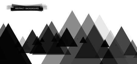 website header: Geometric colorful bright banner made of triangles. Black monochrome header design for the website 2. Vector illustration