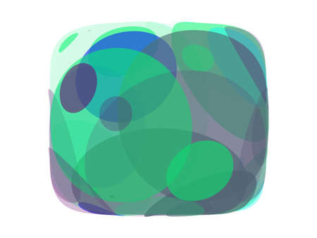 fisheye: Colorful abstract background on a white background in a frame. Vector illustration
