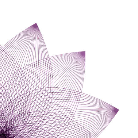 Floral abstracty background in linear style for design. Vector illustration Illustration