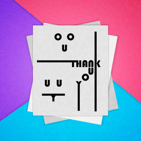 thank you very much: Colorful poster. The material design. Thank you. Vector illustration