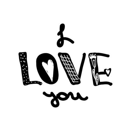 young culture: Design lettering with a quote about love for Valentine s day. Young culture fashion art for t-shirt emblem. Vector illustration