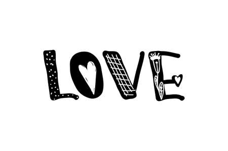 young culture: Design lettering with a quote about love for Valentine s day. Young culture fashion art for t-shirt emblem. Vector