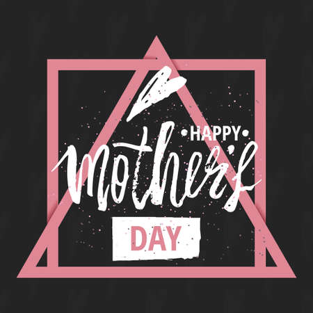 graffity: Happy Mothers Day design background. Lettering design. Greeting card. Calligraphy Background template for Mothers Day. Vector illustration