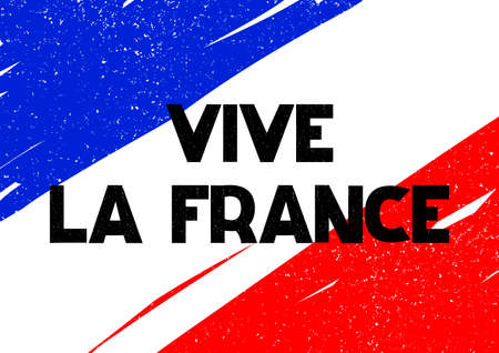 Card with lettering Vive La France Vector illustration Illustration