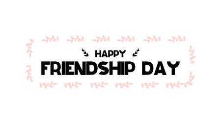 Card with calligraphy lettering for Friendship day in Scandinavian style Vector illustration