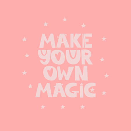 Make your own magic quote Çizim