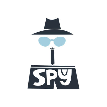 I spy slogan Illustration