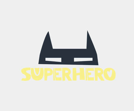 Superhero. Hand drawn style typography poster with inspirational quote. Greeting card, print art or home decoration in Scandinavian style. Scandinavian design. Vector