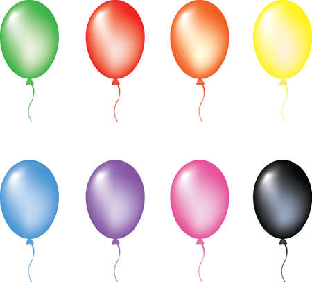 Multi color balloons. Vector illustration. isolated on white background, EPS8, all parts closed, possibility to edit. Vector