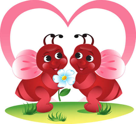 Valentine's vector illustration. EPS8, all parts closed, possibility to edit. Stock Vector - 4168947