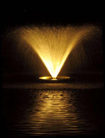 夜の噴水 写真素材