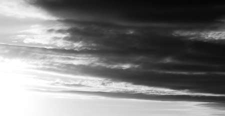 waves on the sky, dramatic view black and white