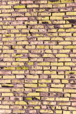 오래 된 거친 벽돌의 brickwork을 기반으로하는 컬러 brickwork.