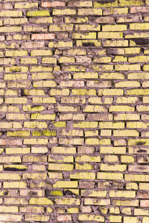 Colored brickwork that based on the brickwork of old rough bricks. Imagens