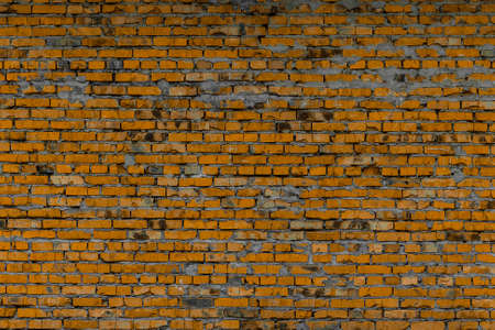 Background and texture of the brickwork of the colored bricks.