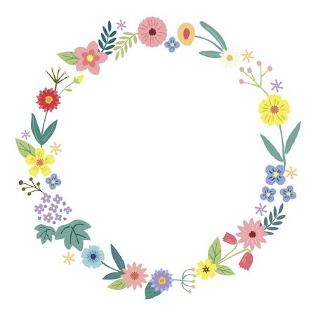 Flower decoration frame (wreath)