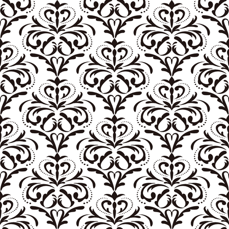 Ornamental seamless pattern in the style of Baroque.  イラスト・ベクター素材