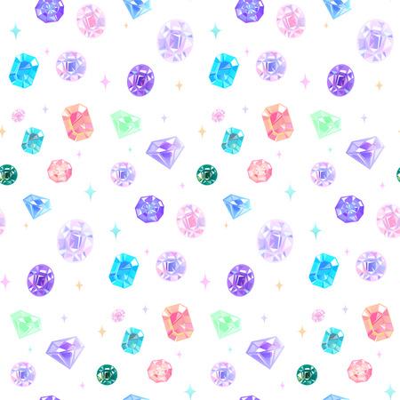 Nahtloses Muster des schönen verschiedenen Schmucks. Vektorgrafik