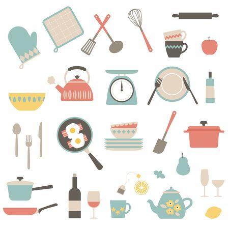 Kitchen tools illust pattern.