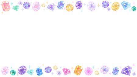 cadre de divers beaux bijoux.