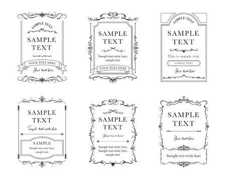 Elegant cards design illustration collection.  イラスト・ベクター素材