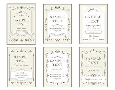 Elegant cards design illustration collection.