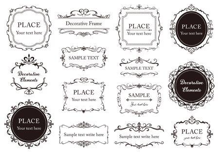 Elegant frame design illustration collection.