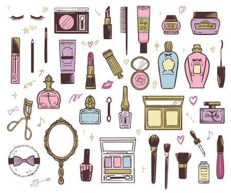 Vector illustration of beauty cosmetics