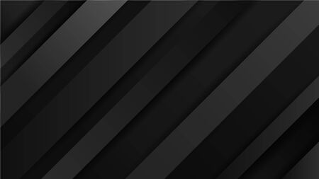 Abstract vector background with lines of shadows. Dynamic black lines. Black background for your design.