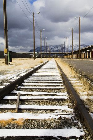 distance: Railroad tracks fading into the distance