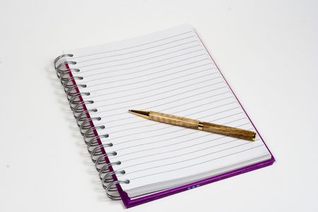 Picture of a notepad and pen for recoding ideas and thoughts Stock Photo