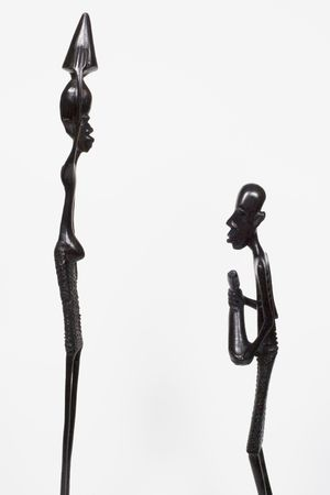 African woodcarvings showing opposites