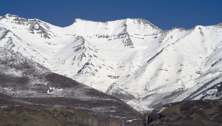 Mount Timpanogos, an 11,750 feet peak near Sundance Ski Resort in Utah (about 40 miles South of Salt Lake City)