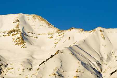 wasatch: Mount; Timpanogos in Utah county Utah taken from the West in the Winter