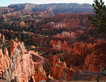 bryce: Hoodoos at Sunset Point in Bryce Canyon National Park Utah. Stock Photo