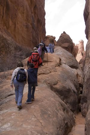 Hikers in Fiery Furnace