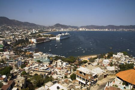 Acapulco bay overlook from high up