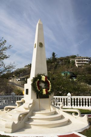 Monument in Zihuatanejo, Mexico 版權商用圖片