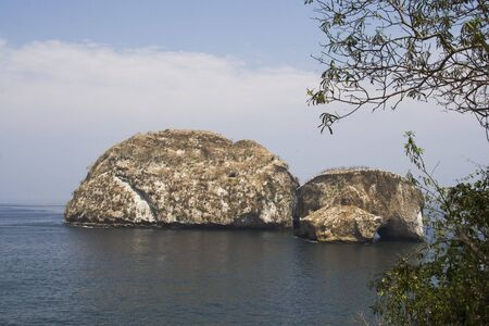 Large rocks in water in Puerto Vallarta Mexico