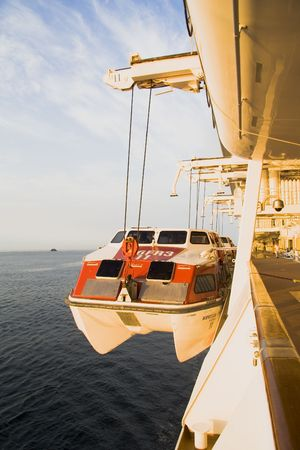Cruise ship emergency lifeboat photo