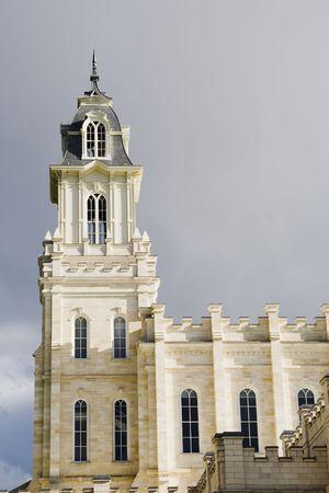 lds: LDS Mormon temple in Manti Utah Stock Photo