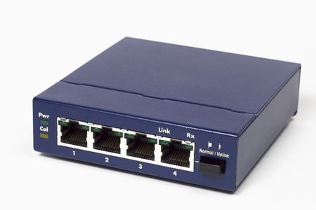 hub: Ethernet computer hub or switch