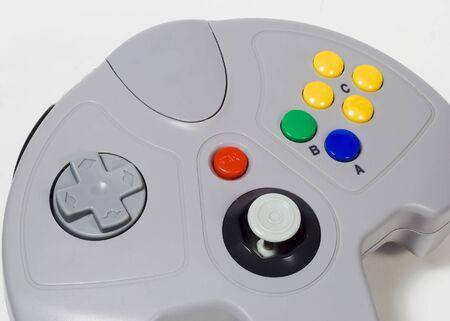 ビデオゲームのコント ローラー。