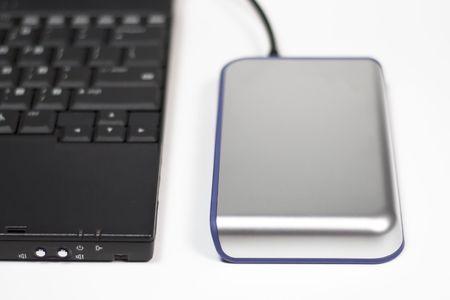 컴퓨터 용 외장 하드 드라이브 스톡 콘텐츠