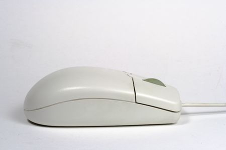White computer mouse Stok Fotoğraf