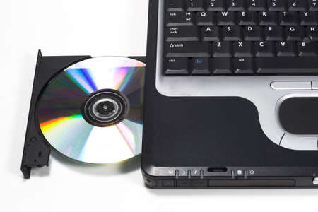DVDCD drive on laptop computer