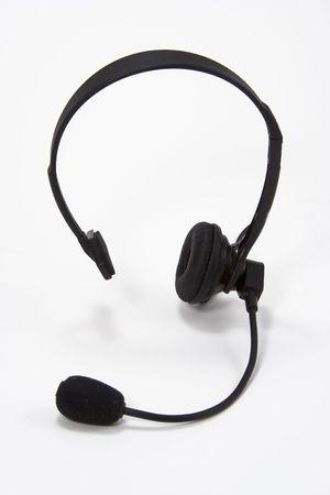 earpiece: Headset used by telephone operator