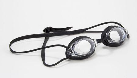 黒と明確な水泳ゴーグルのペア 写真素材