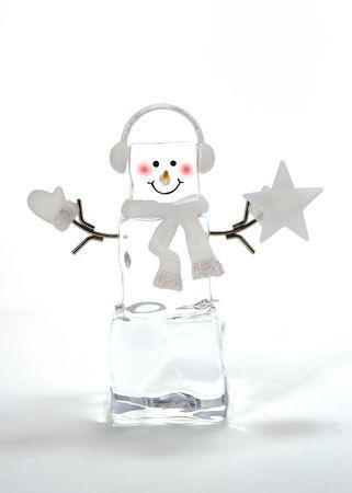 Ice cube Snowman Christmas tree decoration Stok Fotoğraf